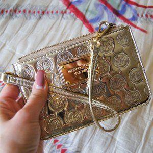 Michael Kors Gold Metallic Coin Purse